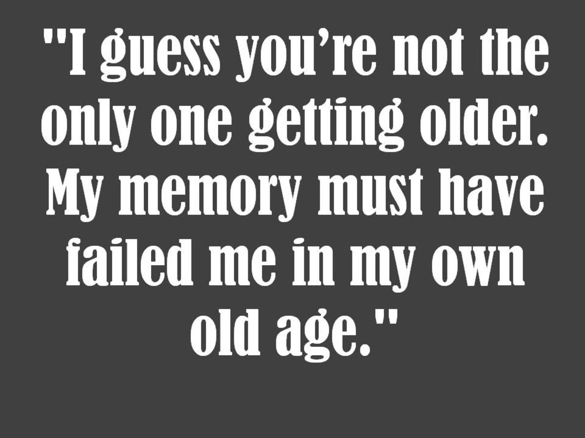 Belated birthday old age joke