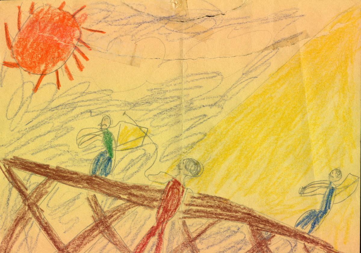 Kids' Passover artwork.