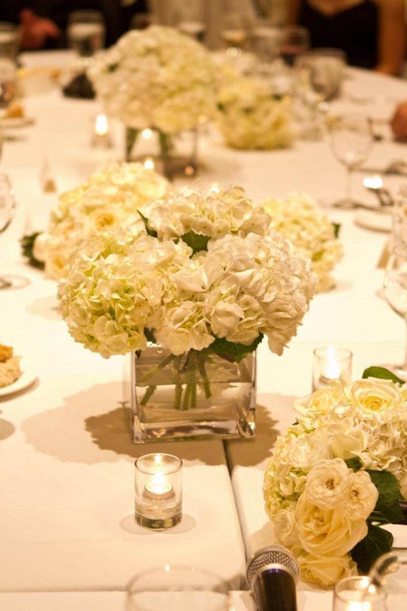 My simple but elegant floral centerpieces