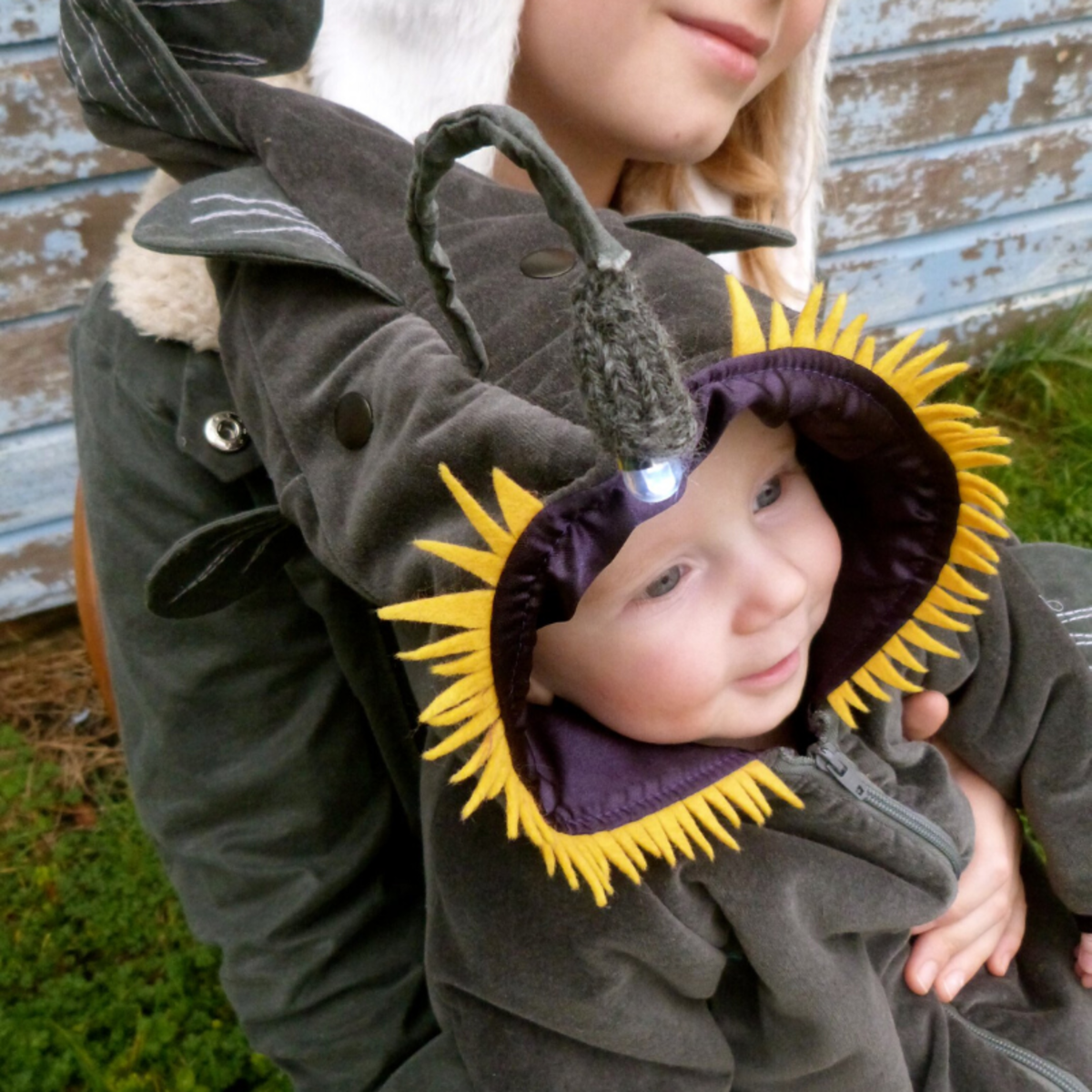 Funny themed bunting sets are cute, practical, and make for some stellar photo opportunities. This angler fish onesie is just too much!