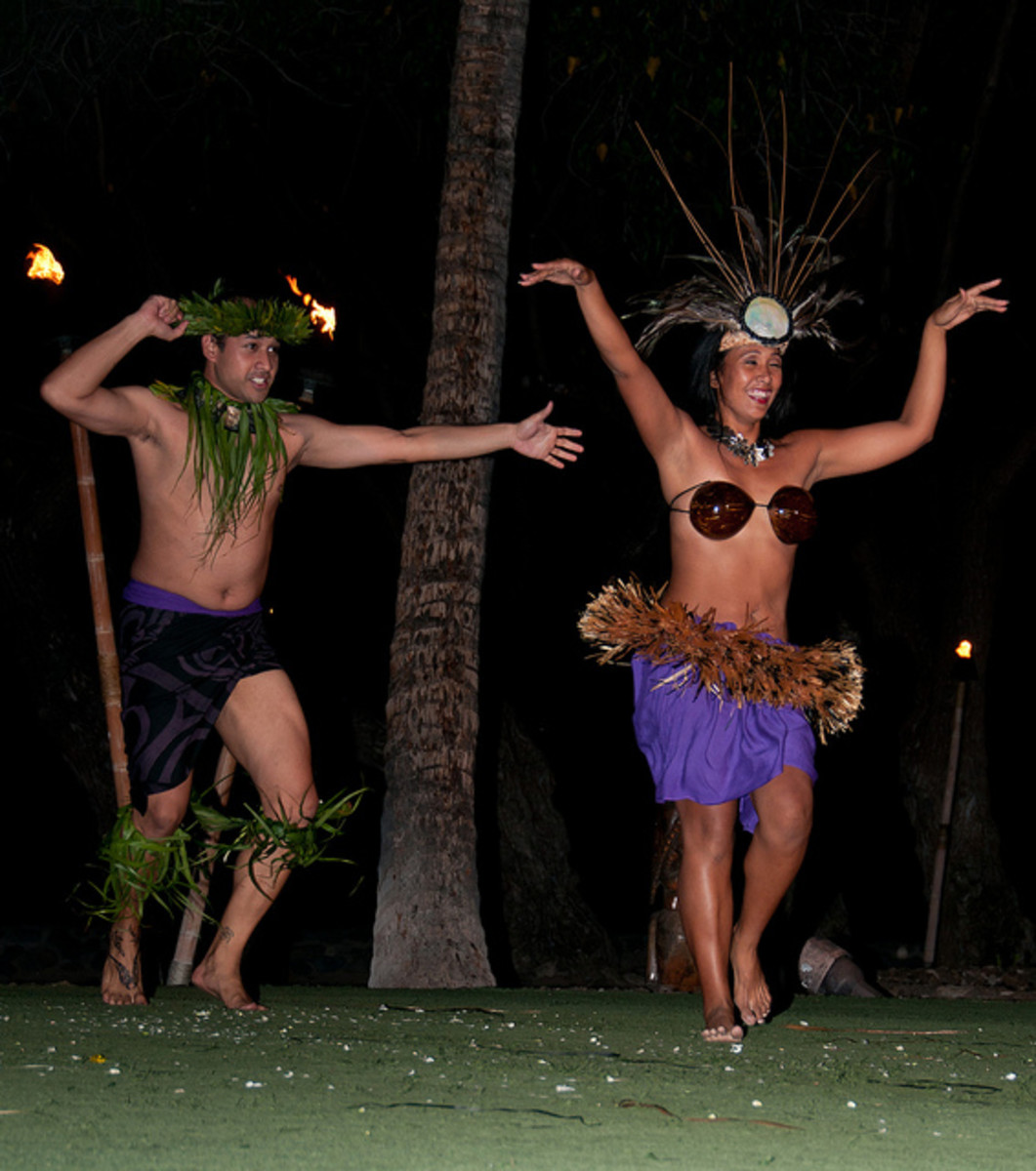Dancing to the island beat.