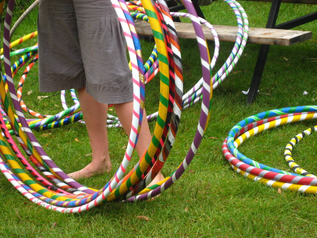 Hula hoop contests are always a hit with guests!