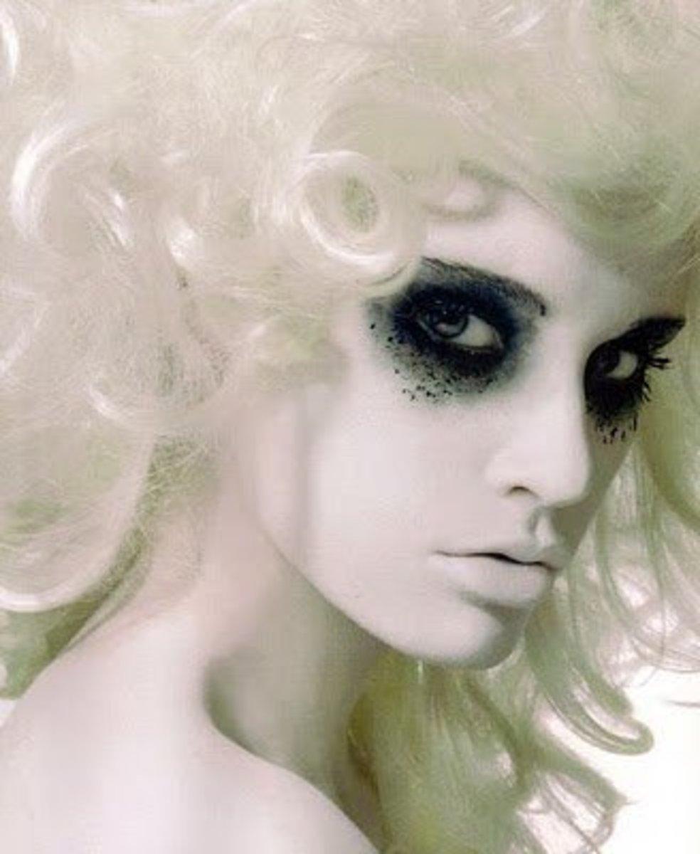 Very Pale Ghost Makeup