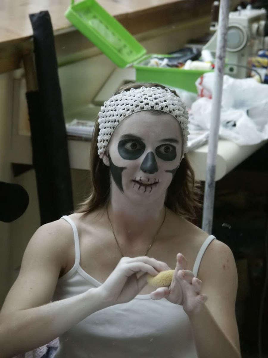 Skull-Inspired Ghost Makeup