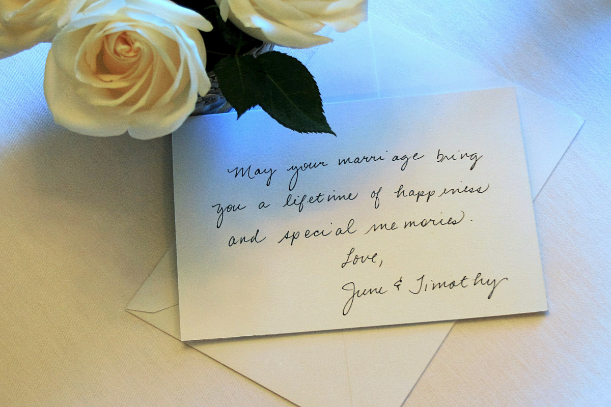 Ideas for what to write in a wedding card if you are not a close friend of the bride.