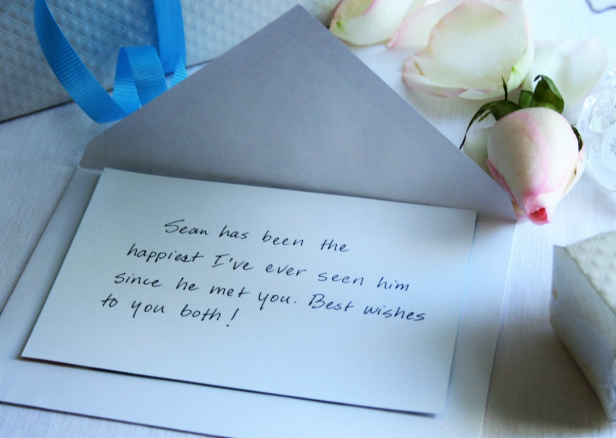Ideas for messages from family and close friends of the bride.