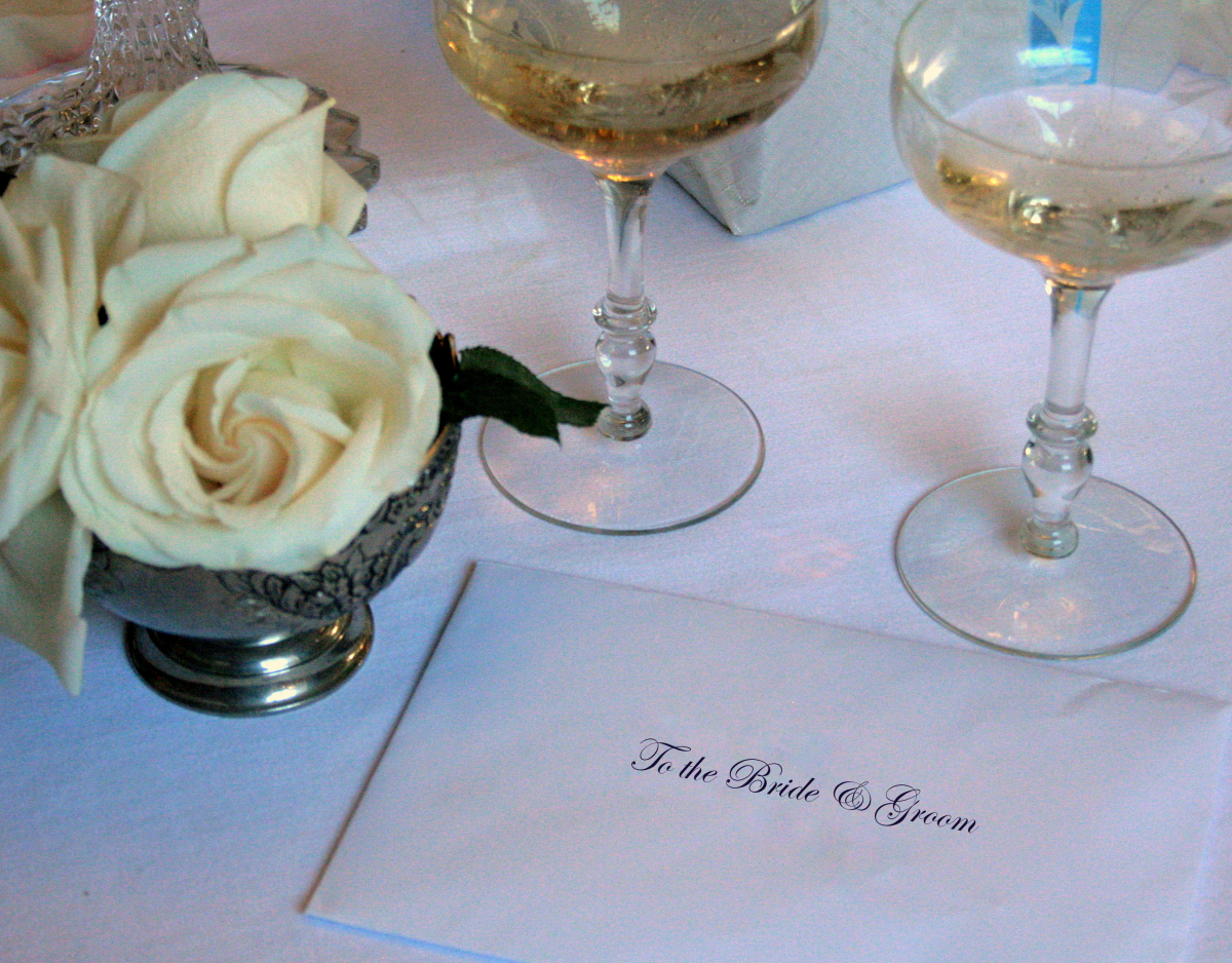 Write a heartfelt message on your bridal shower card.