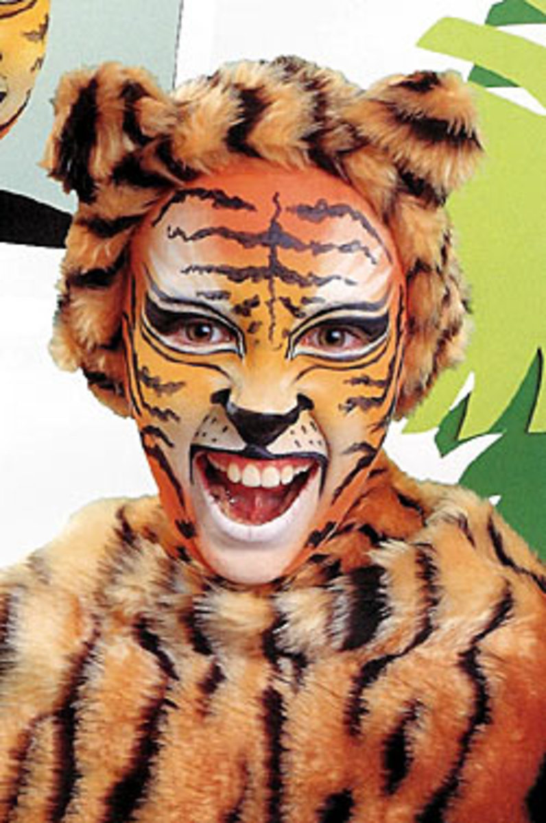 Tiger Face Makeup and Costume
