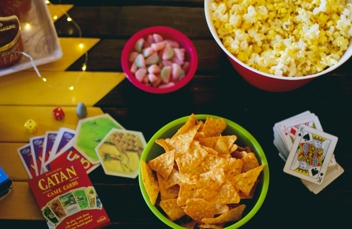 Why not have a simple party with some board or card games and snacks?