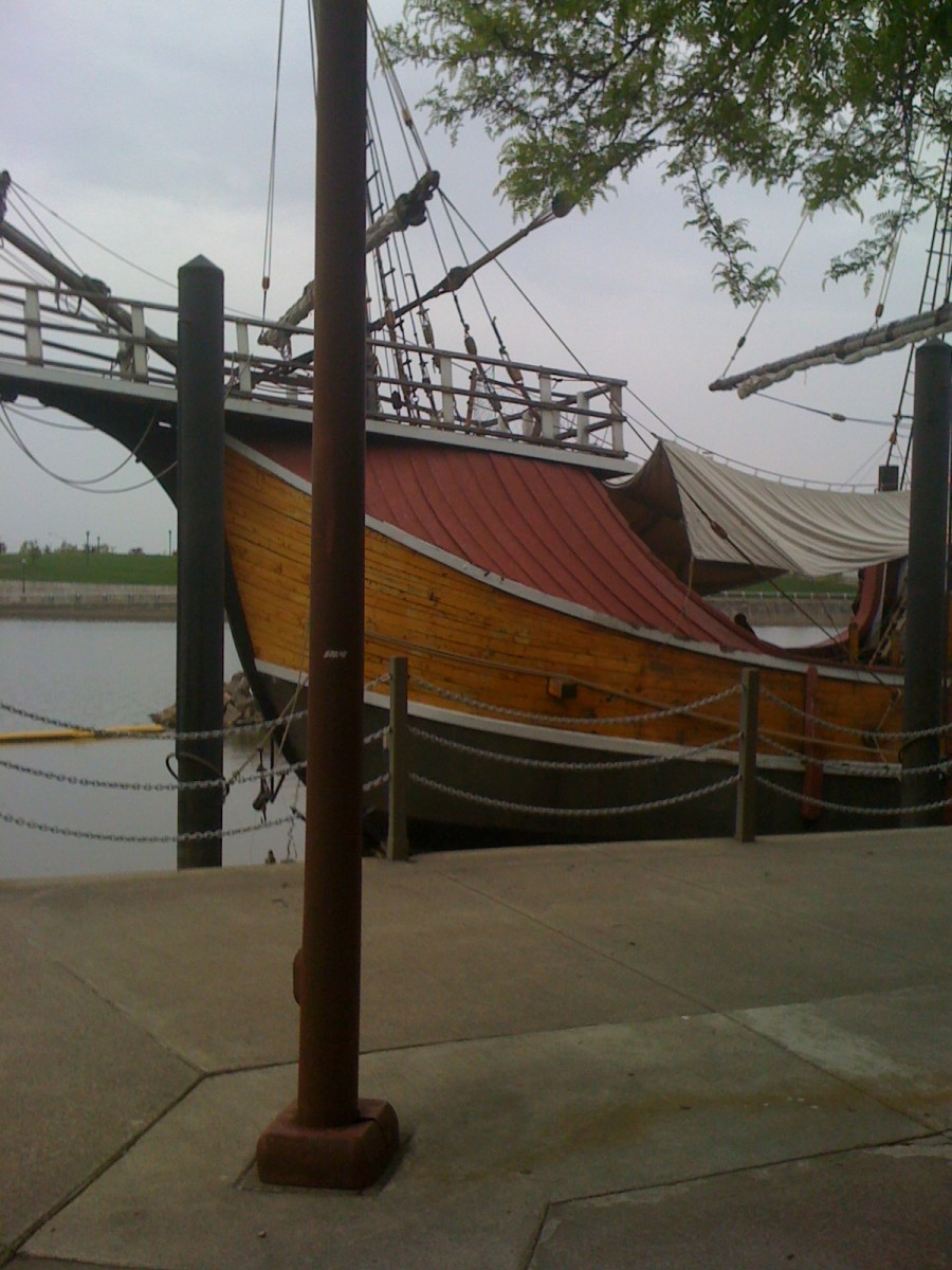 The Santa Maria in Columbus, Ohio - site of many pirate weddings.