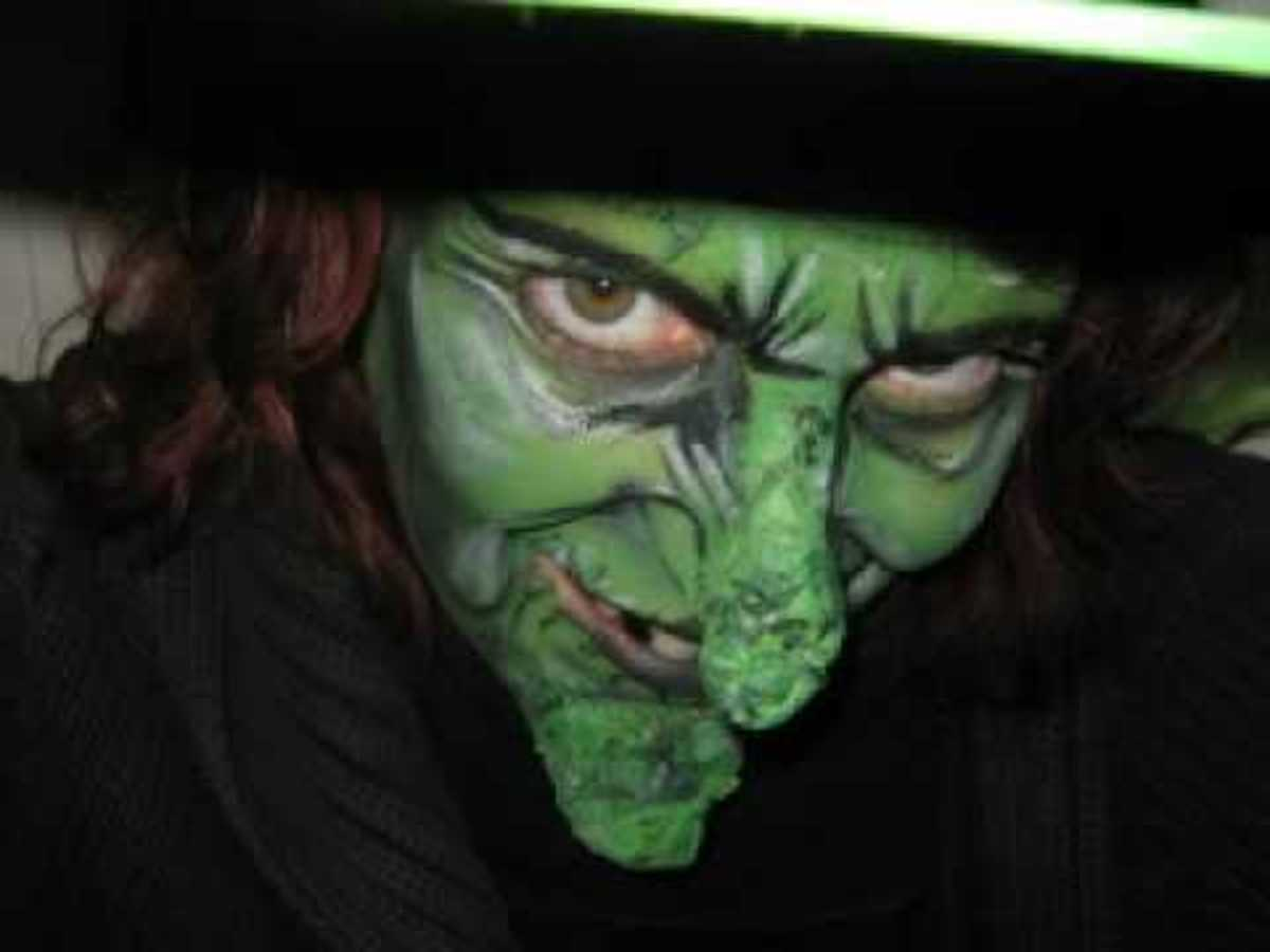 A witch face