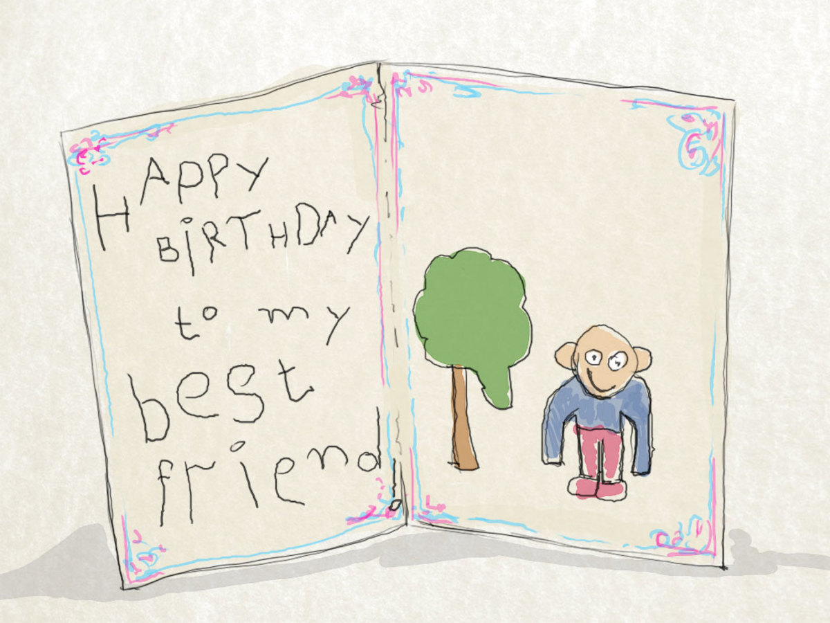 the first birthday card i ever made for a friend looked a lot like this