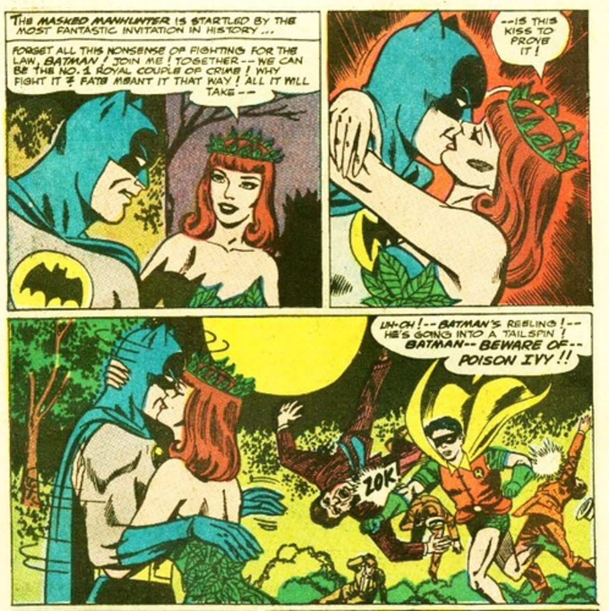 The original Poison Ivy, sporting her Bettie Page haircut.