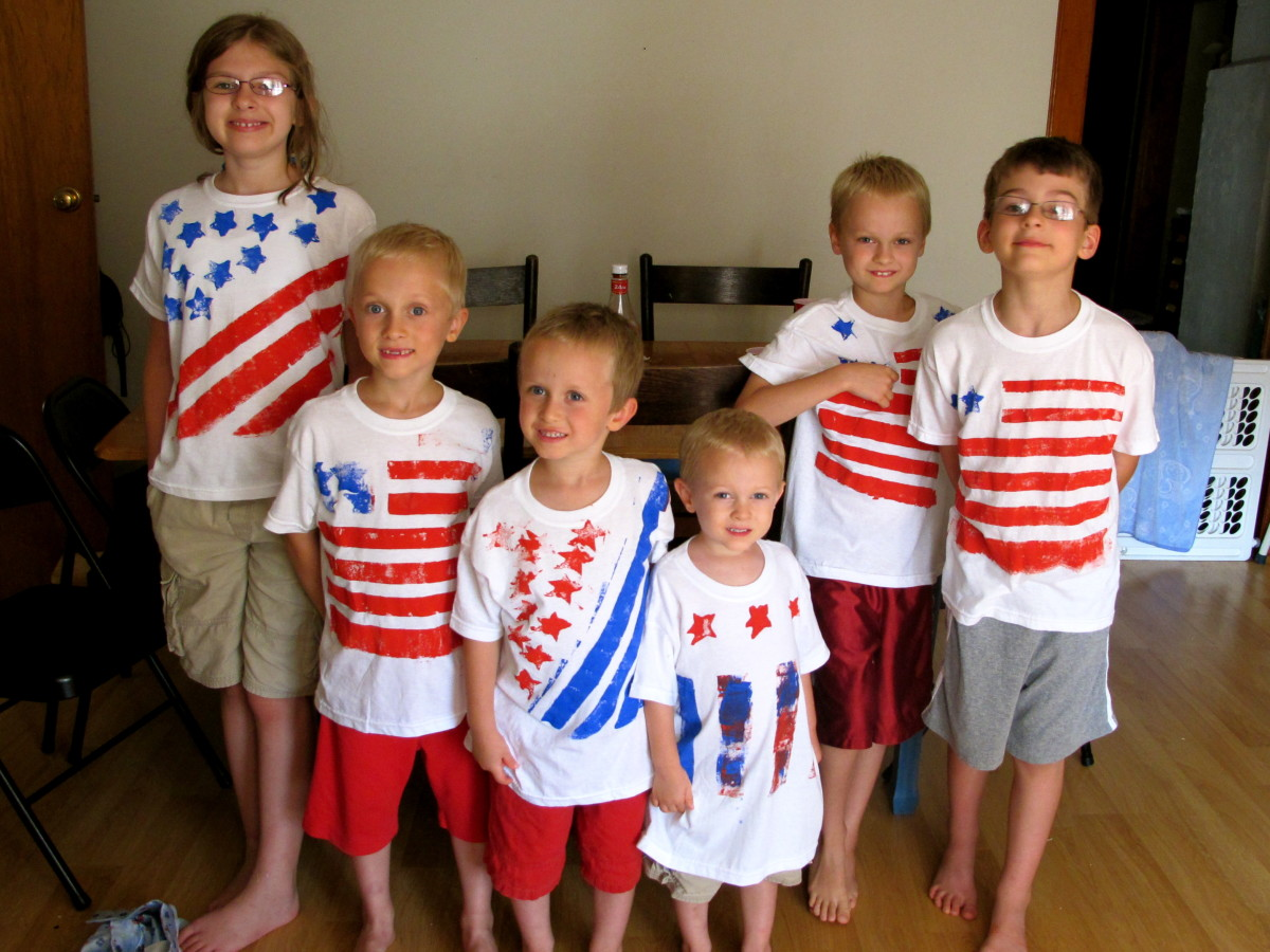 Fun flag shirts.