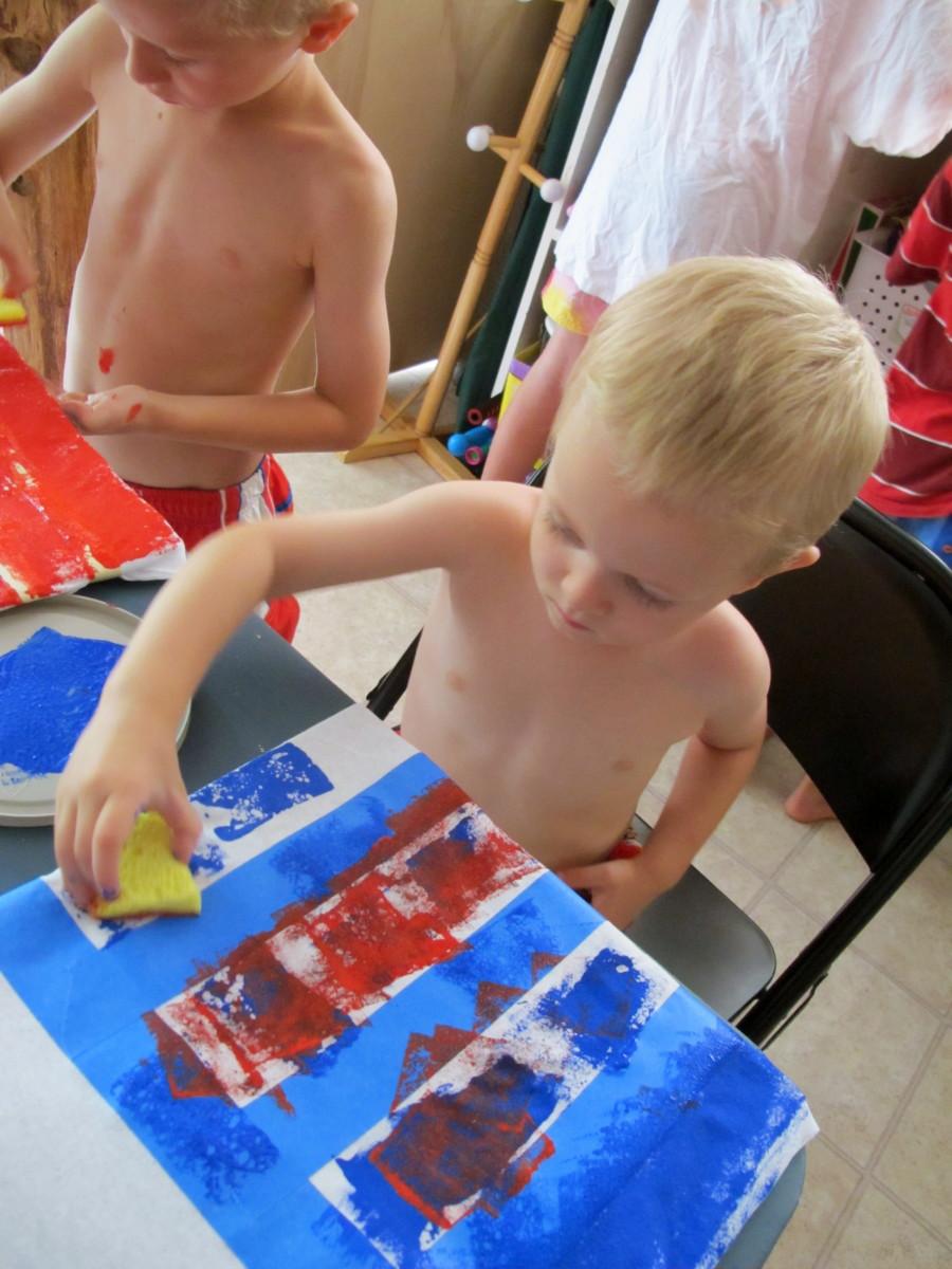 Stamping crafts.