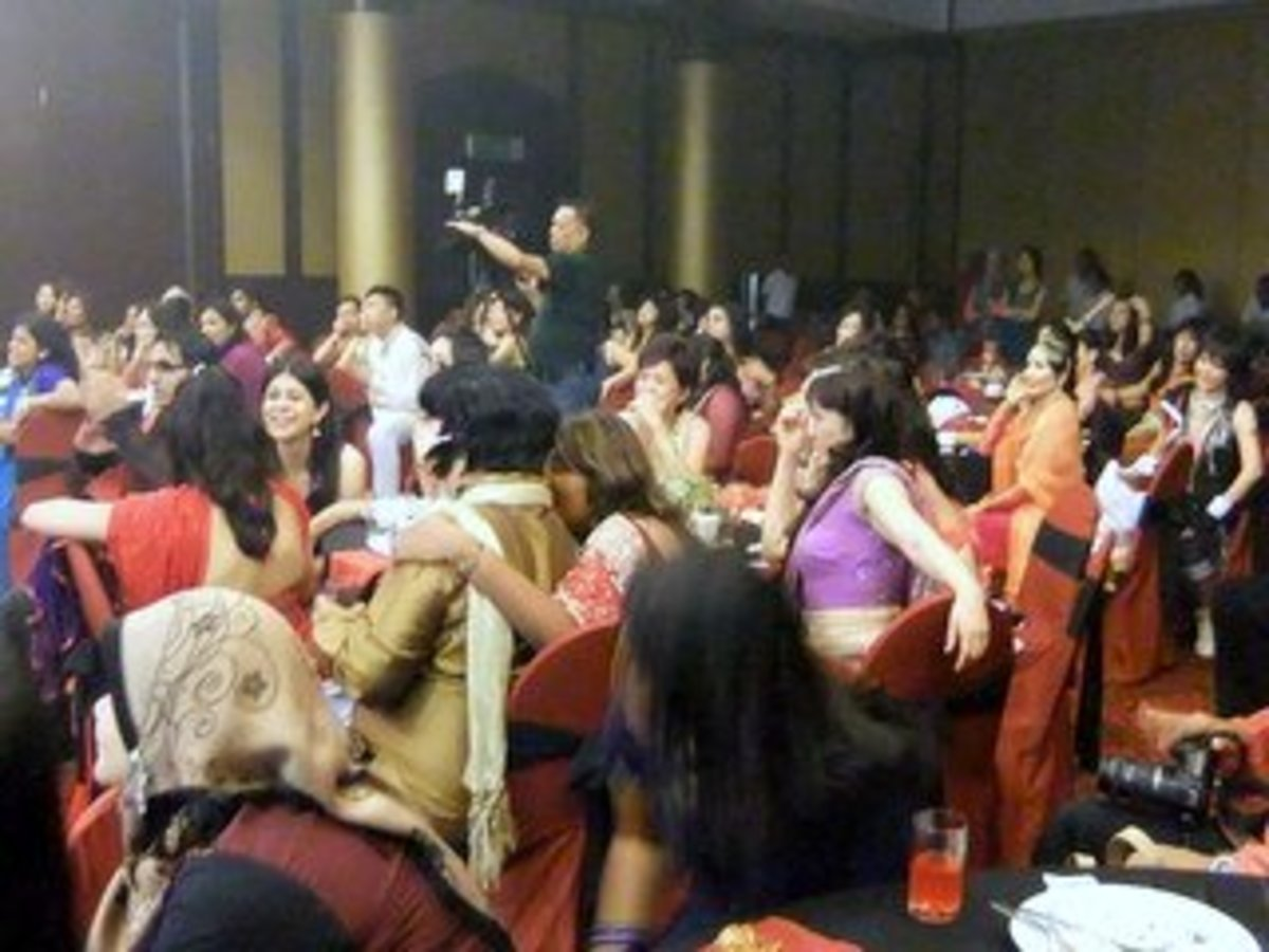 Photo 1.2: Get everyone to dress up for the theme party, in this case Bollywood night theme