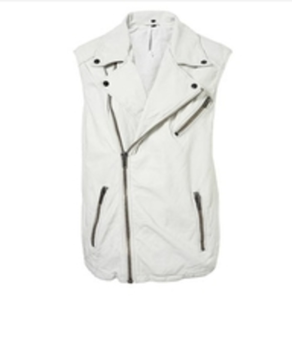 White leather or black works, many wear a combo of both or both colors: white and black.