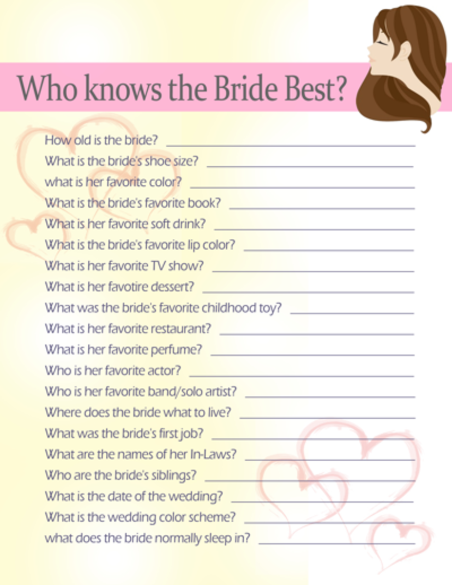 Who knows the bride best?