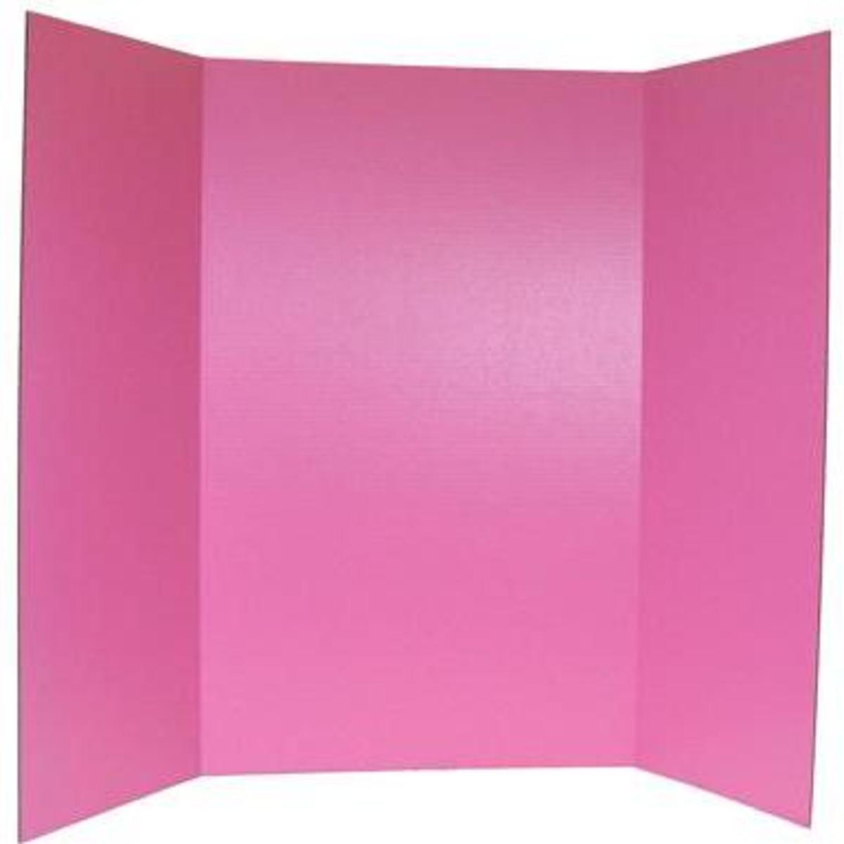 Pink Tri-Fold Board