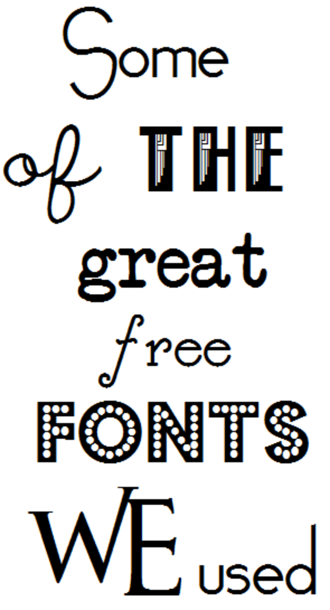 Some examples of fonts that fit our theme & tastes when creating our custom invites.
