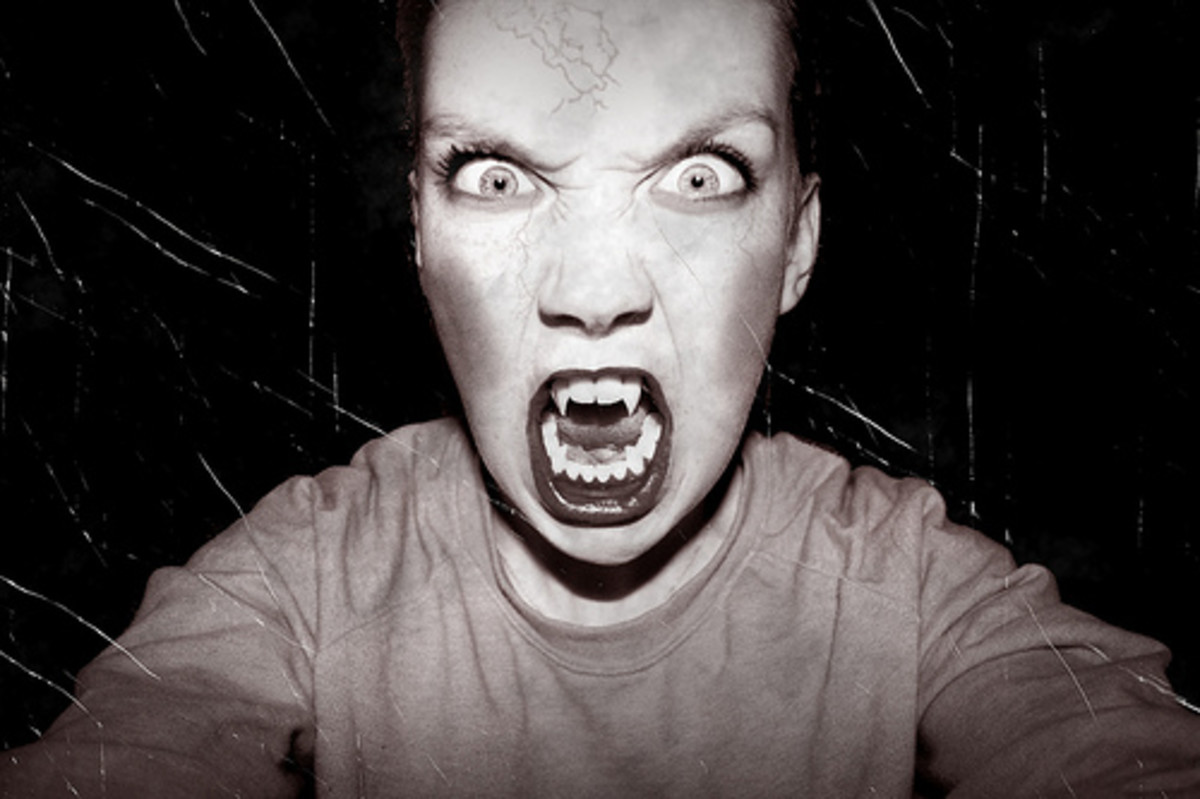 A vampire - although you don't need to look this scary if you don't want to!