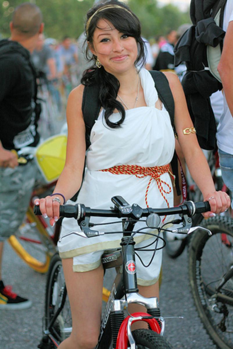 A Greek on a bike!