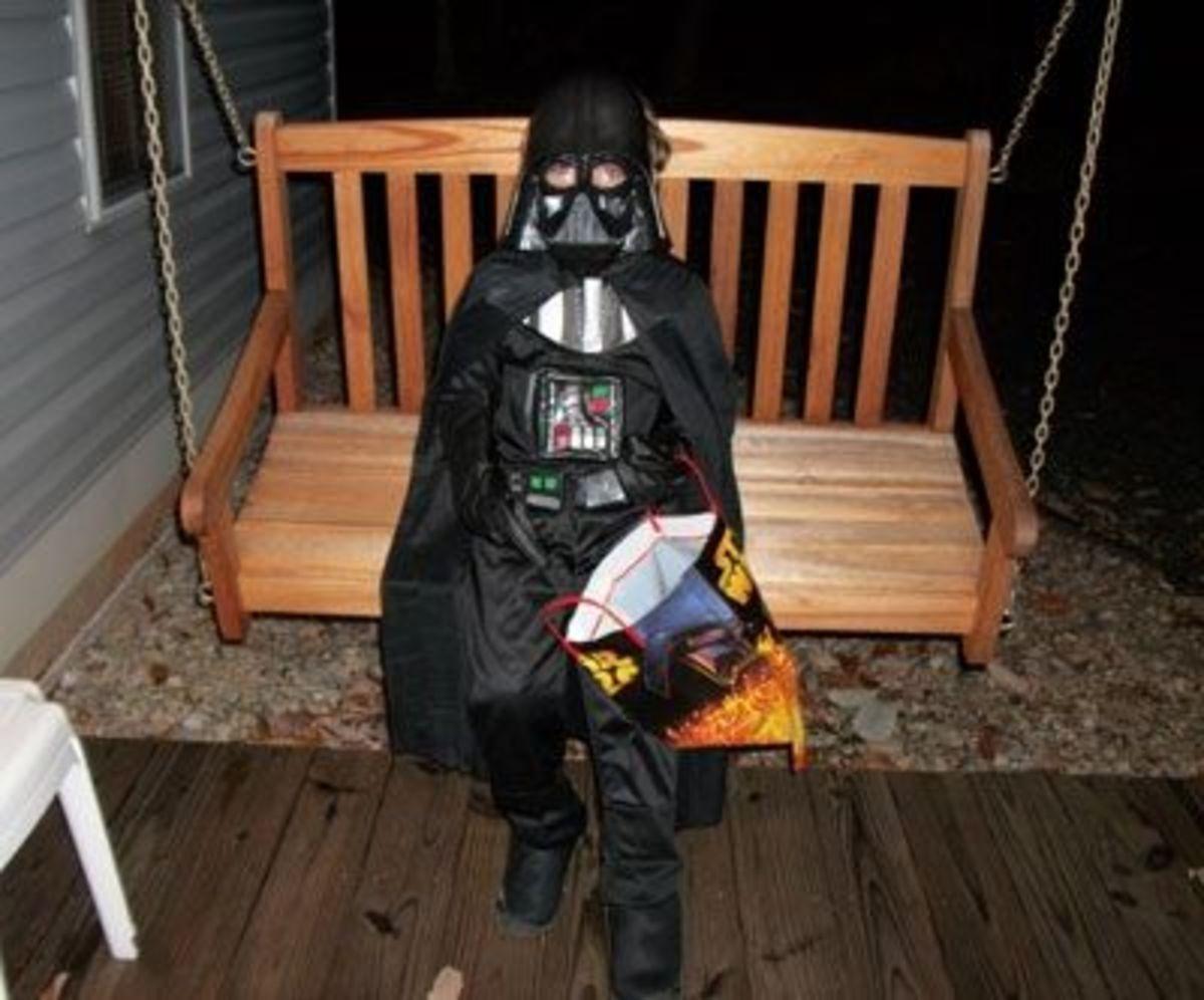 "Darth Vader says: ""Happy Halloween!"""