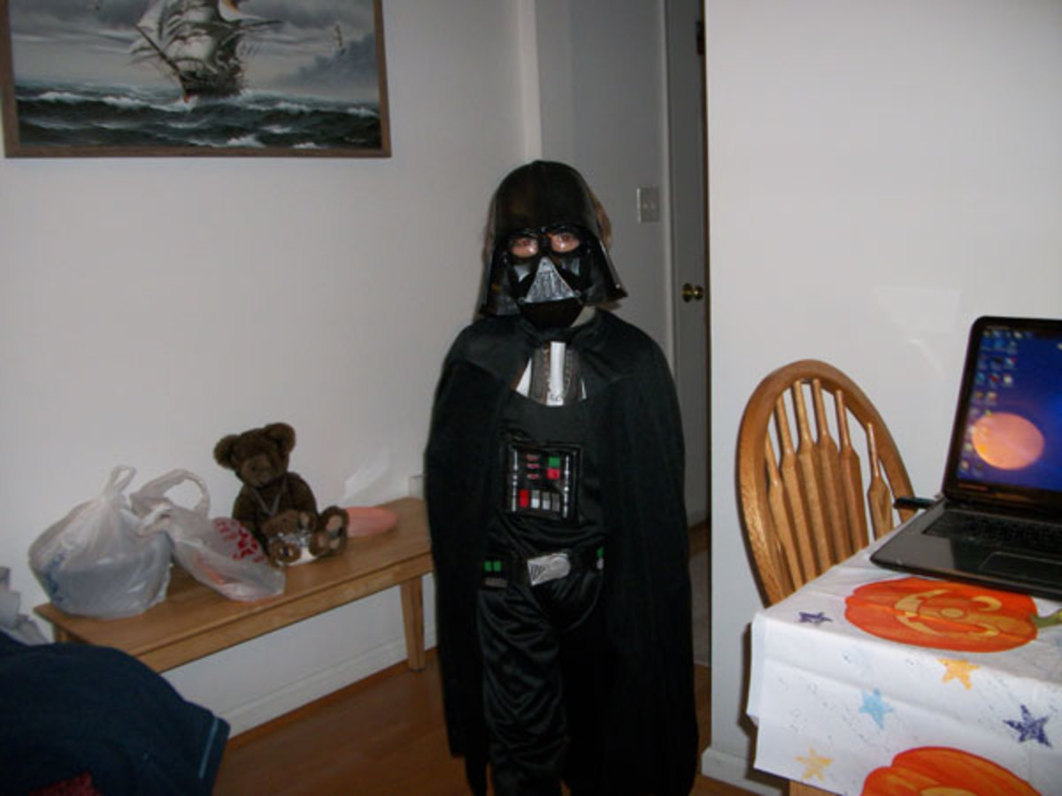 Douglas as Darth Vader: voted The scariest