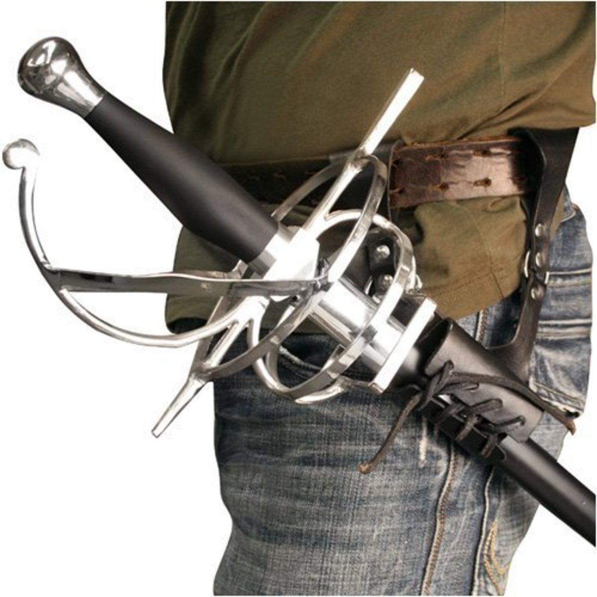 A frog hanger is a belt for your sword