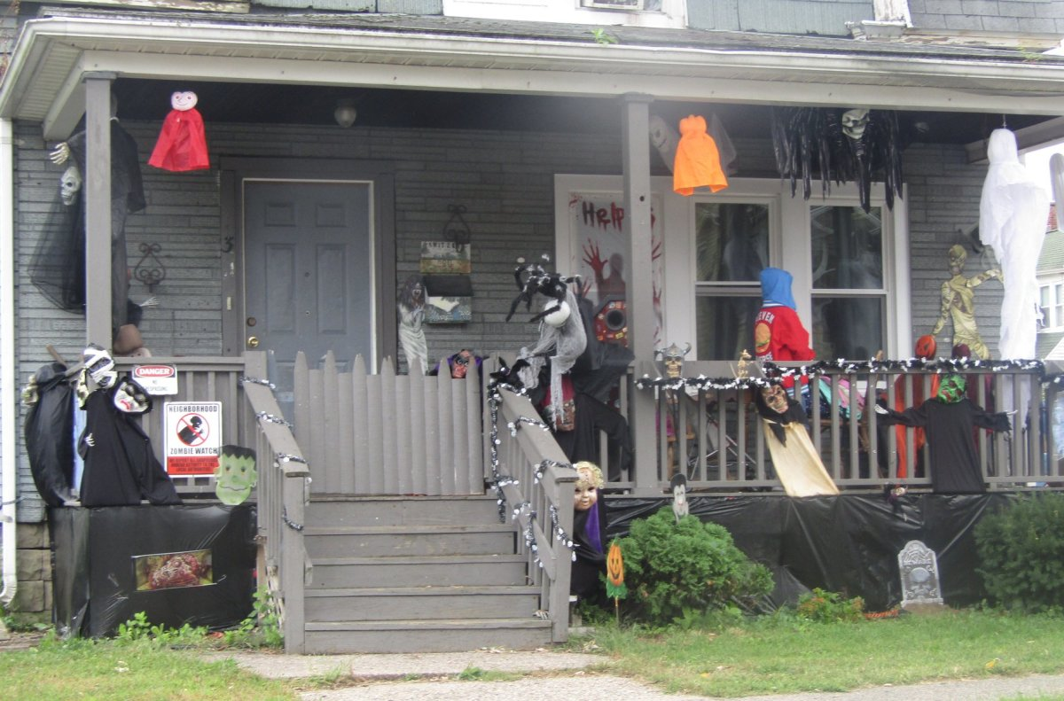 Decorated Porch in Massachusetts