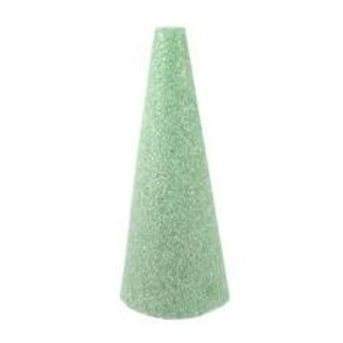 A styrofoam cone is a great way to make a simple Christmas tree.