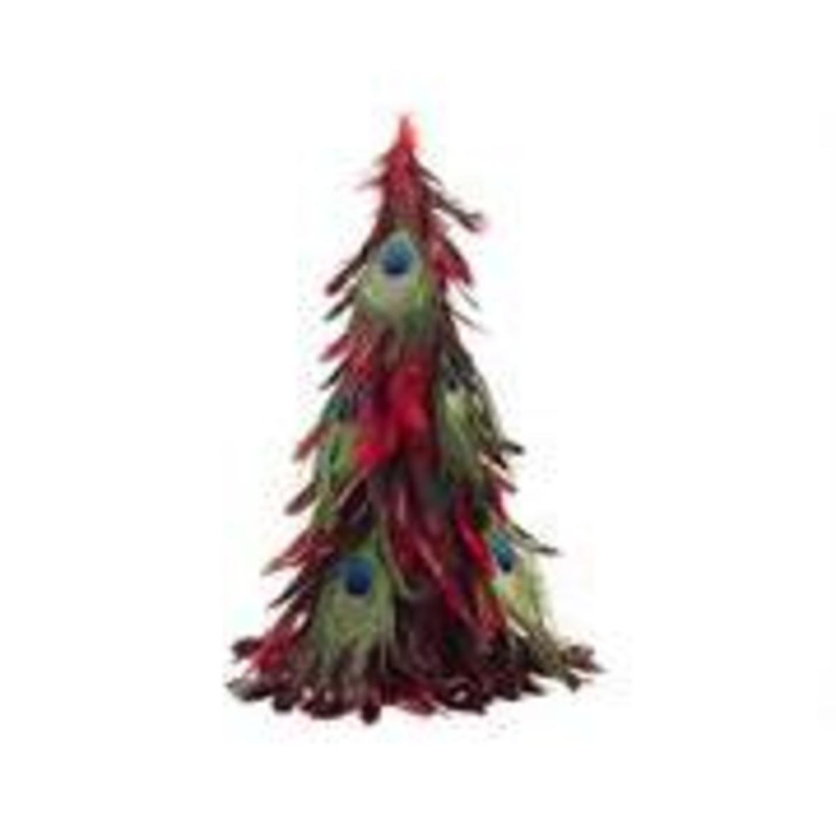 You can make this peacock feather tree for less than $8.00. Retails for $35.00 at Amazon.