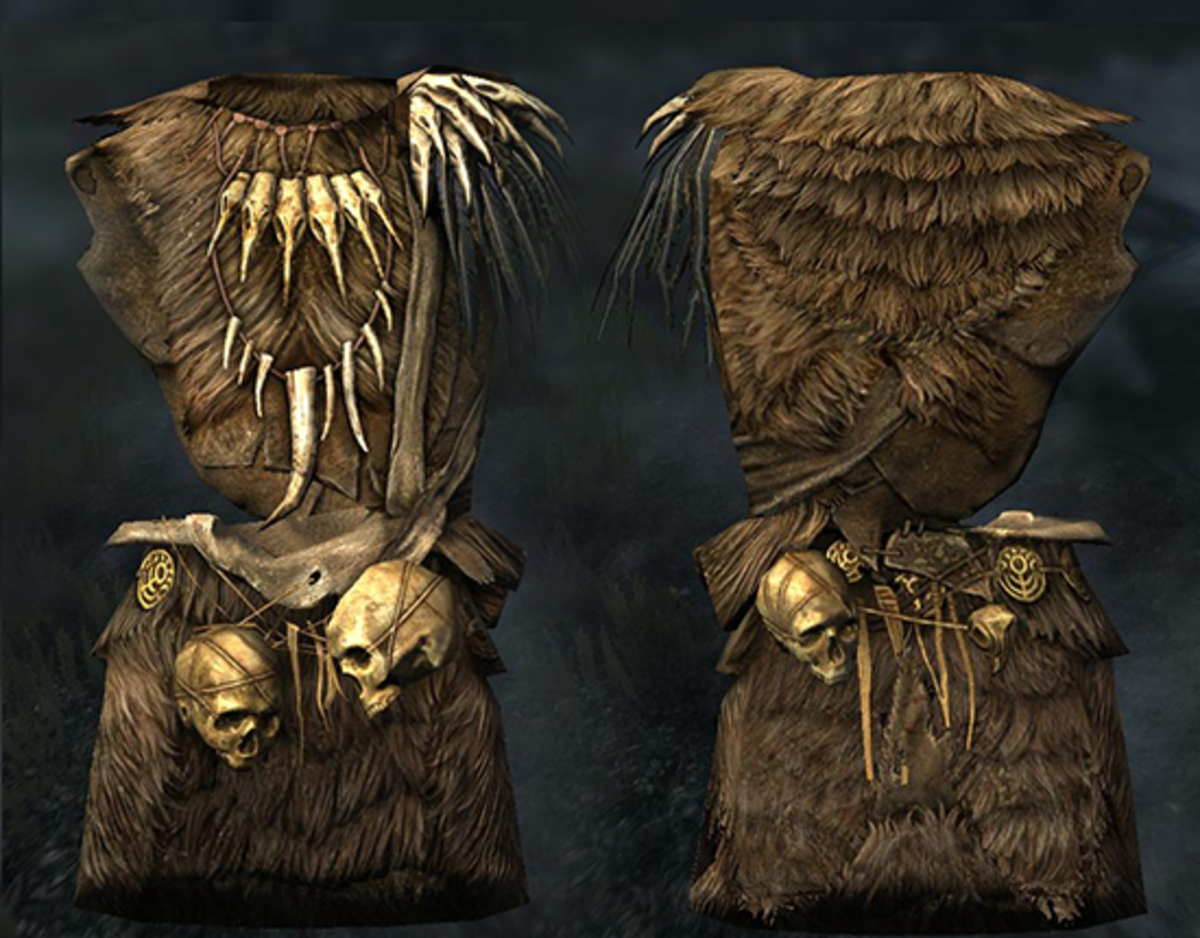 Forsworn armor, front and back