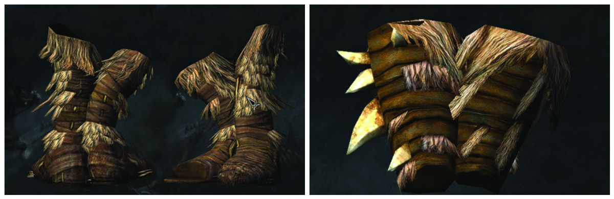 Forsworn boots and gauntlets