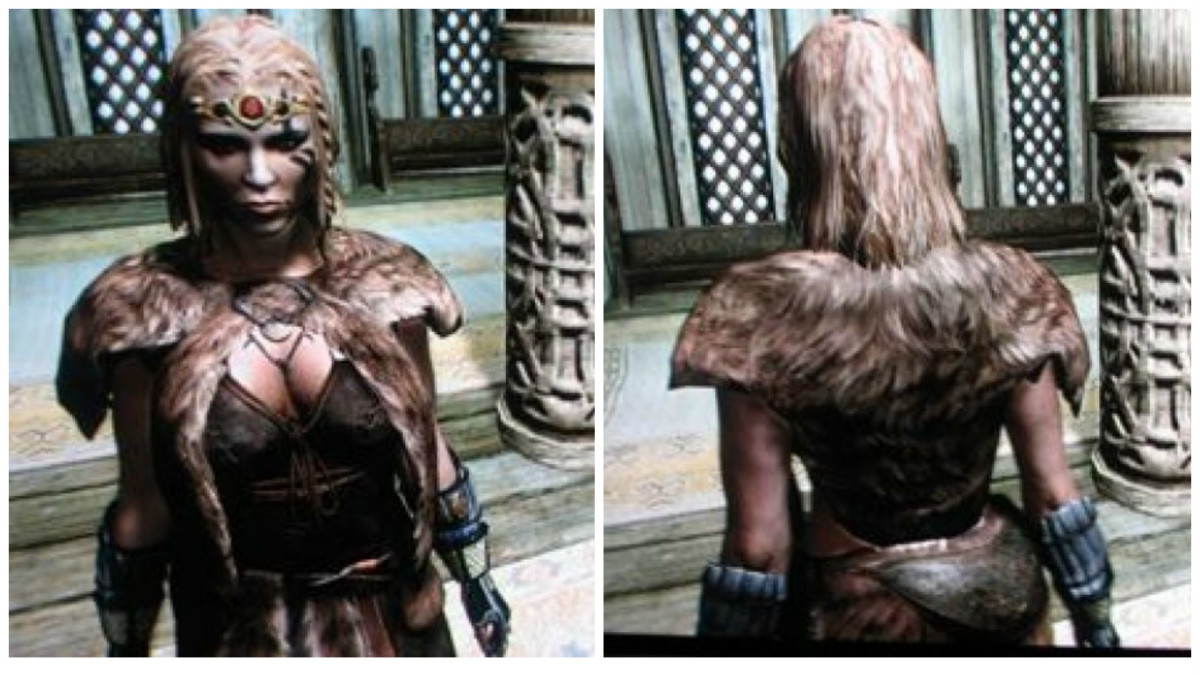 Fur armor, front and back