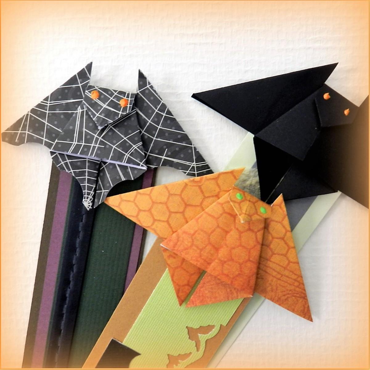 Make an Origami Bat Bookmark