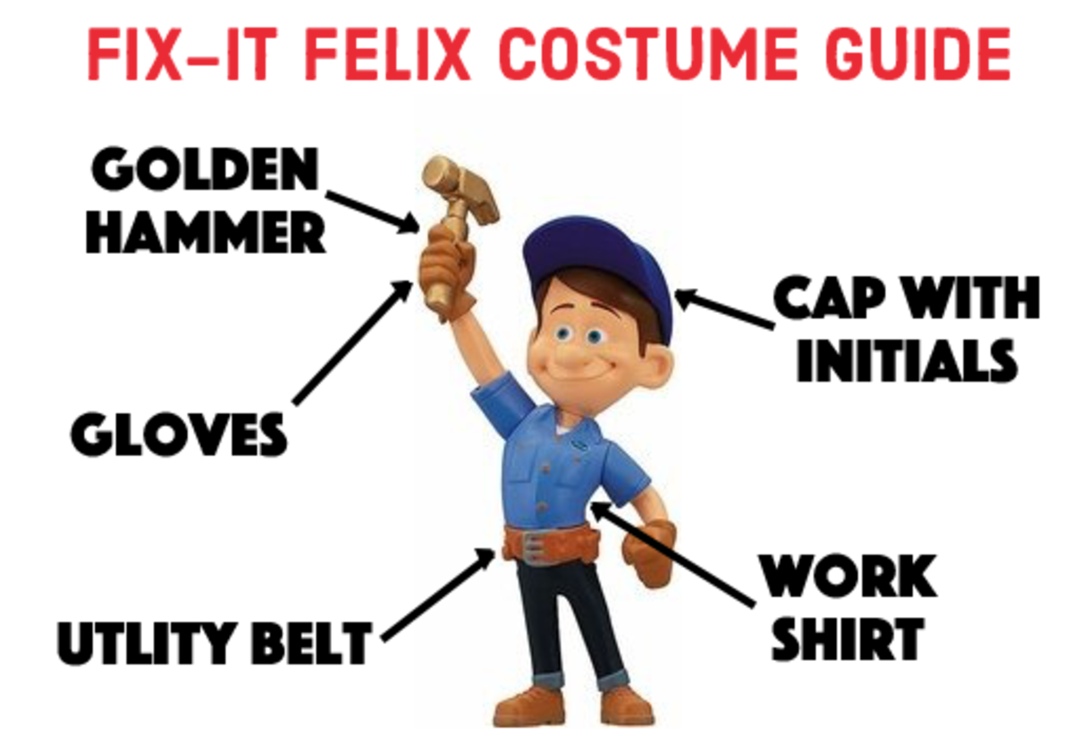 "Fix-It Felix from ""Wreck-It Ralph"" adult costume guide"