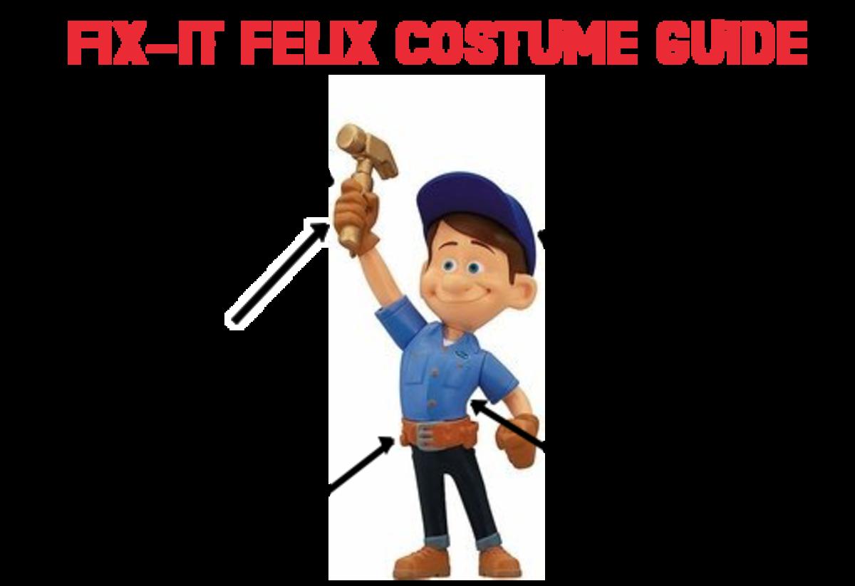Fix-It Felix Adult Costume Guide.