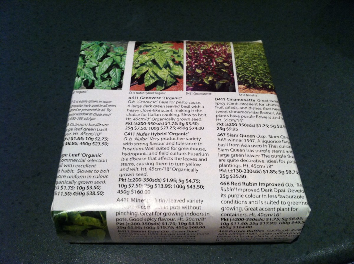 Pages from a seed catalogue make a great gift wrap for the gardener or cook on your list.
