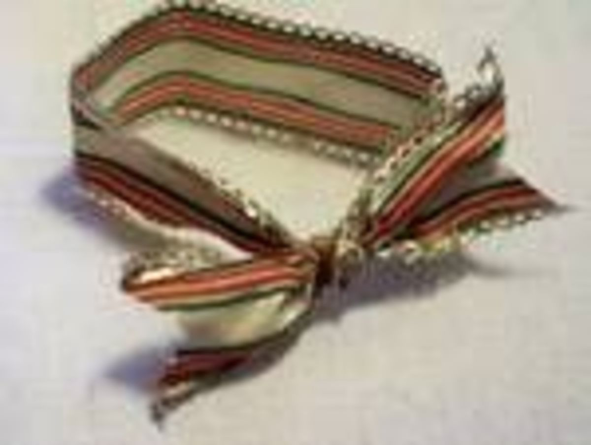 Ribbon for Victorian Fan Ornament