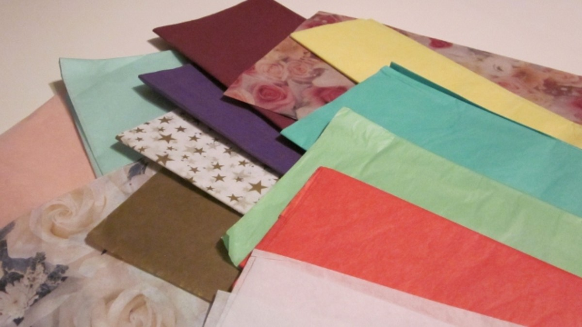 Choose your tissue papers from an array of colors and prints.