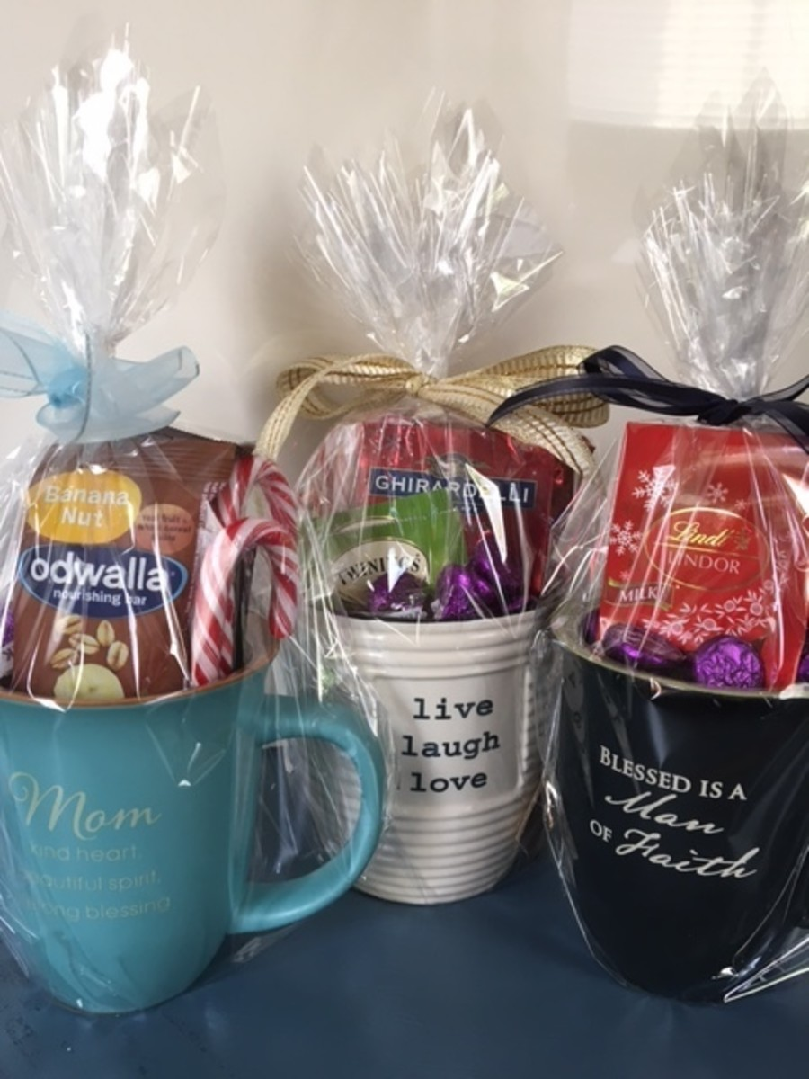 Gift Mugs Filled With Chocolates Teas Or Healthy Snacks Make Great Gifts For Men