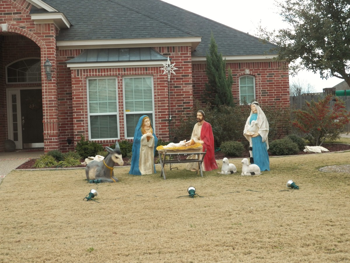 Large Plastic Nativity