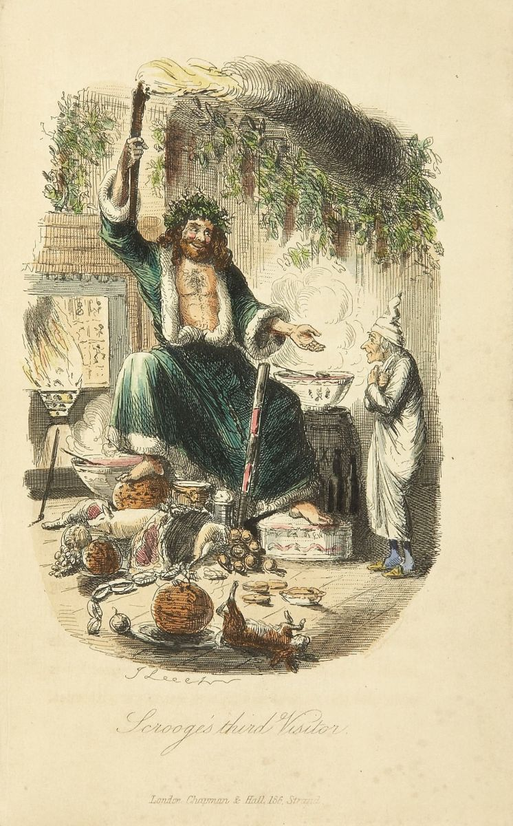 Charles Dickens: A Christmas Carol. In Prose. Being a Ghost Story of Christmas. With Illustrations by John Leech. London: Chapman & Hall, 1843. First edition.