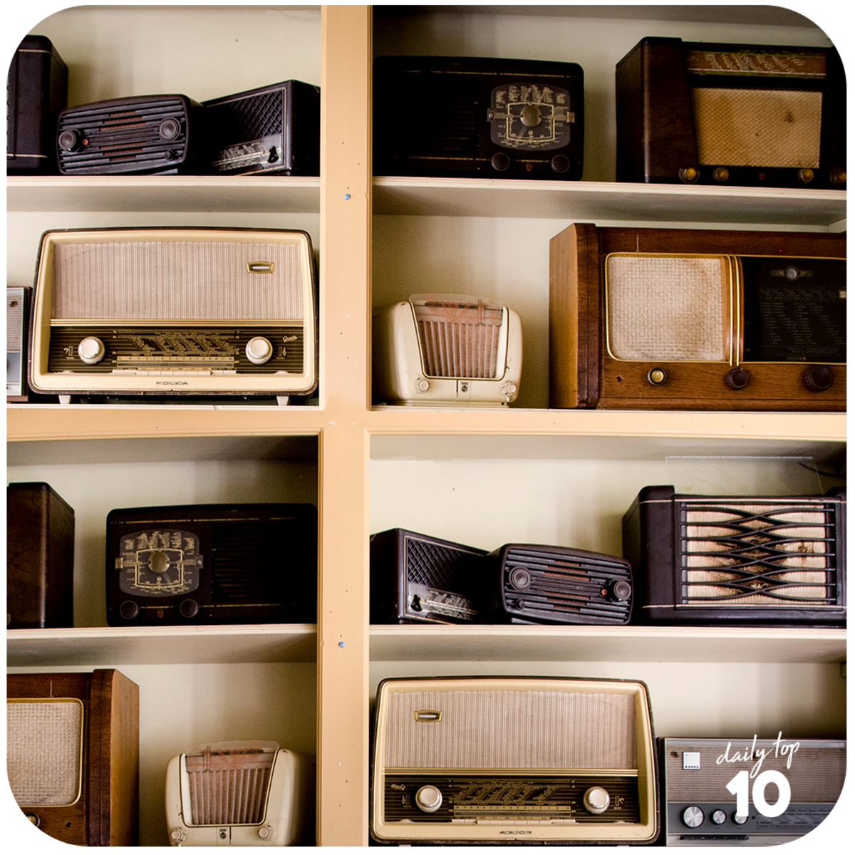 A collection of retro radios!