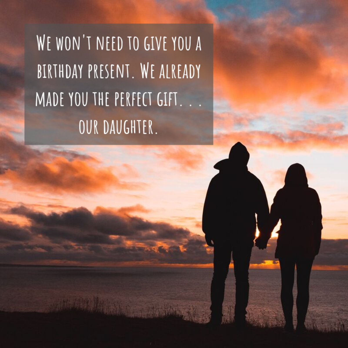 If you and your son-in-law are close and like to joke around together, consider writing him a humorous birthday message.