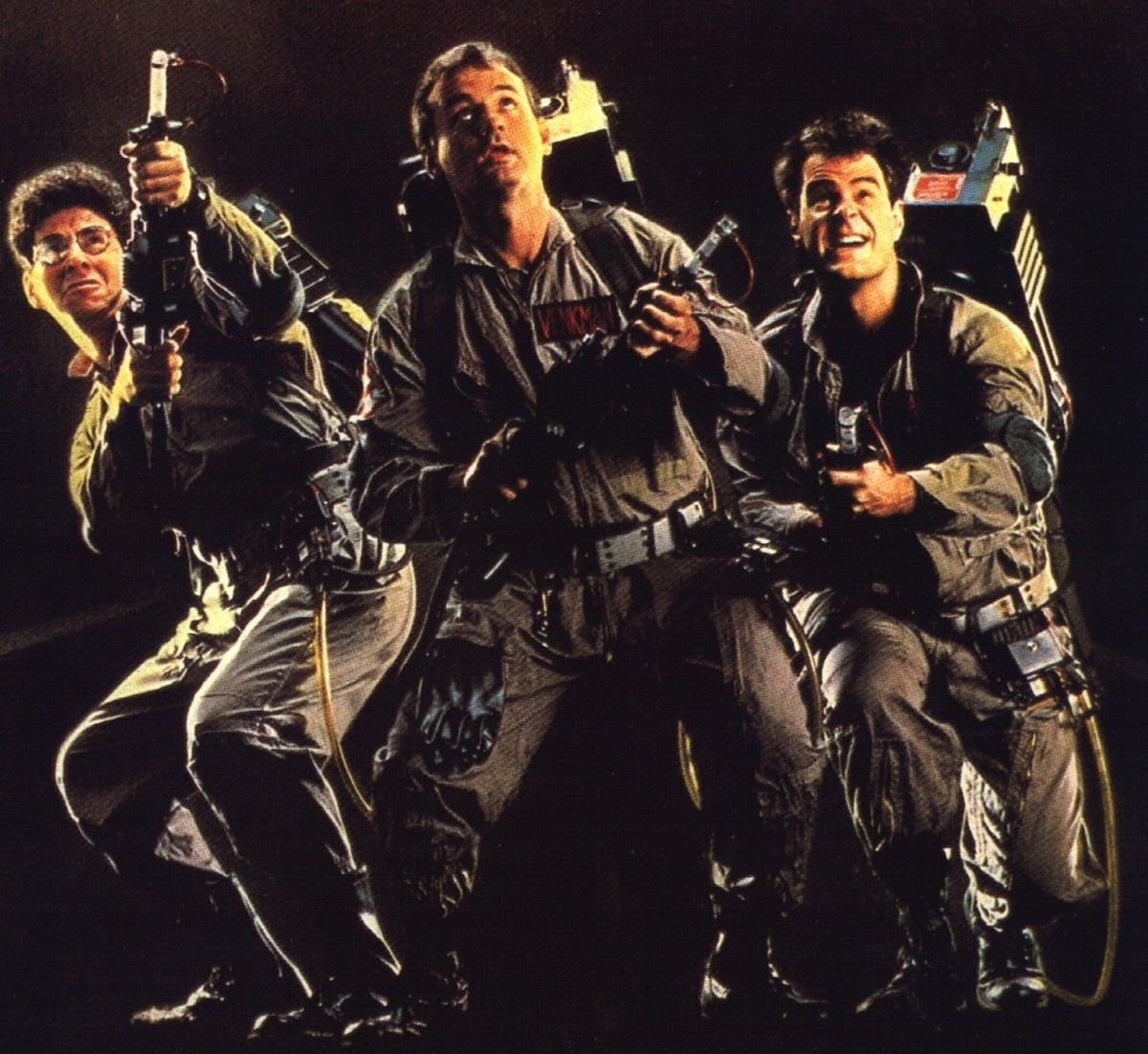 Harold Ramis, Bill Murray and Dan Aykroyd as Ghostbusters