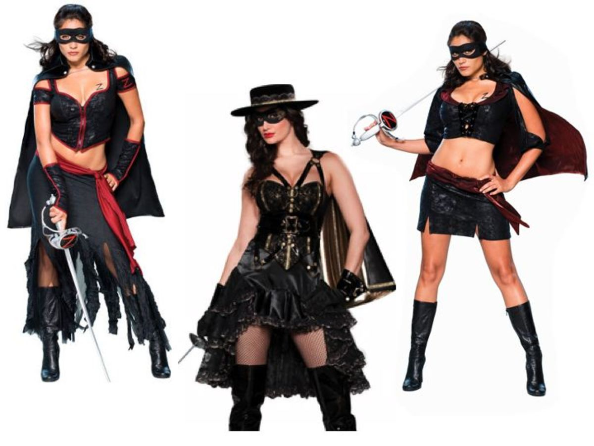 Movie Halloween Costumes Men vs WomenZorro Costume For Women