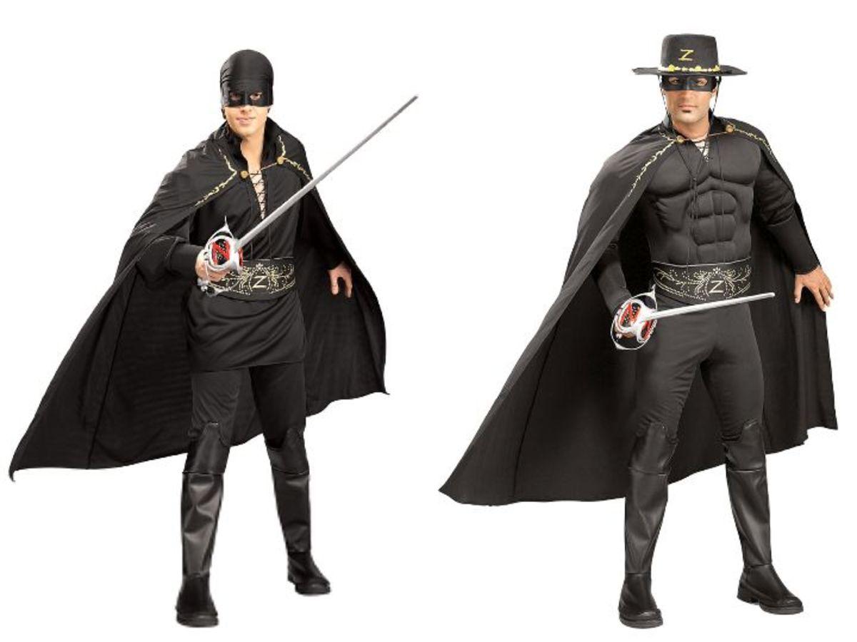 Men Zorro Halloween Costumes