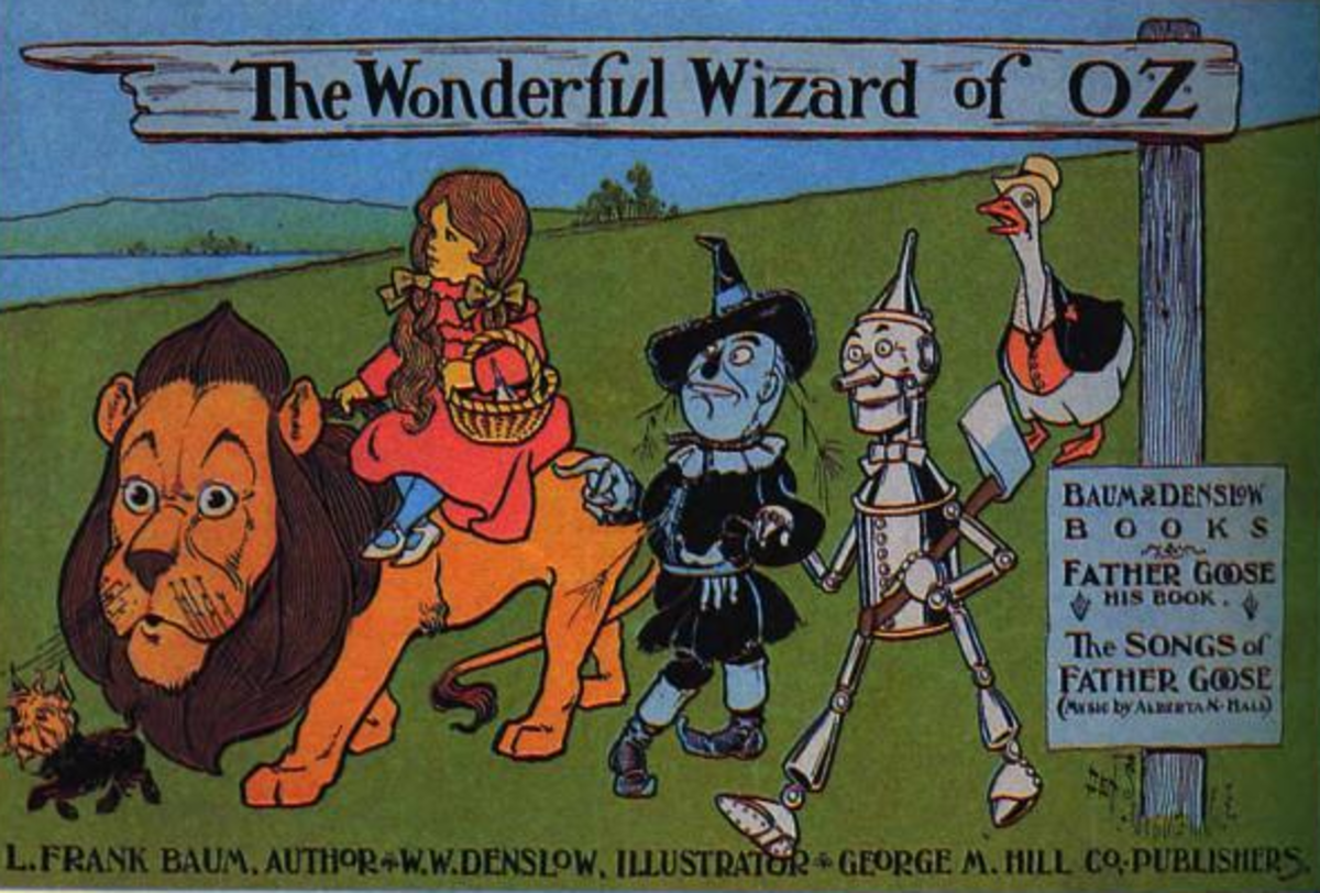 """Poster from 1900 advertising """"The Wonderful Wizard of Oz"""""""